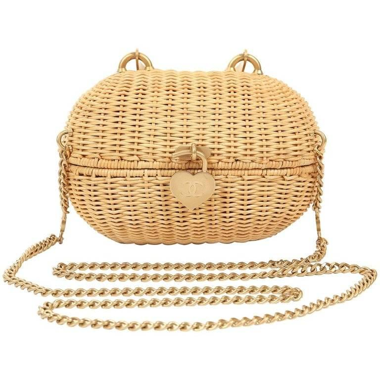 Chanel Wicker Love Basket Small Bag