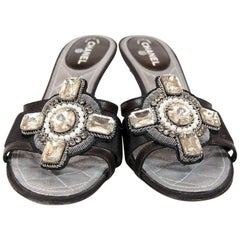 Chanel Crystal Embellished Runway Shoes, Size 36