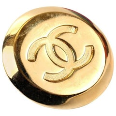 Chanel Gold CC Scarf Clip