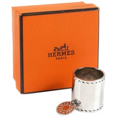 Hermes Palladium Scarf Ring