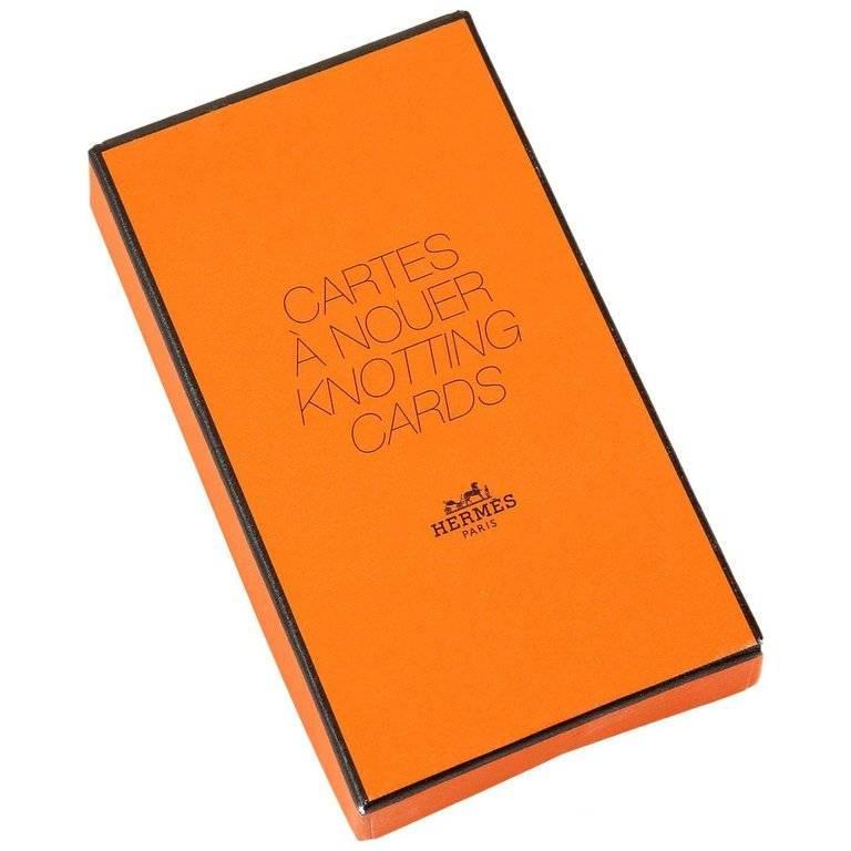 Hermes Scarf Knotting Cards