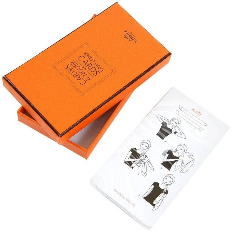Hermes Scarf Knotting Cards 2