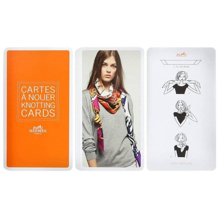 Hermes Scarf Knotting Cards 3