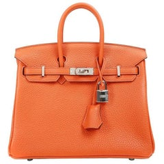 Hermes Poppy Togo Birkin Bag- 25 cm with Palladium