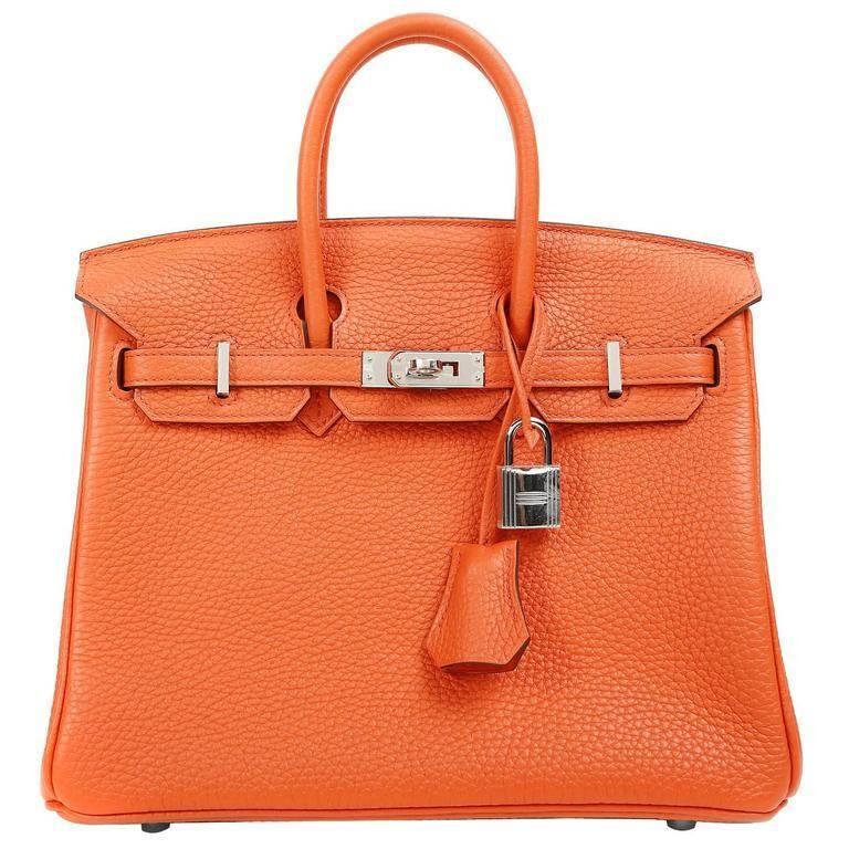 Hermes Poppy Togo Birkin Bag- 25 cm with Palladium