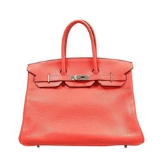 Hermes Bougainvillea Clemence 35 cm Birkin- Red color