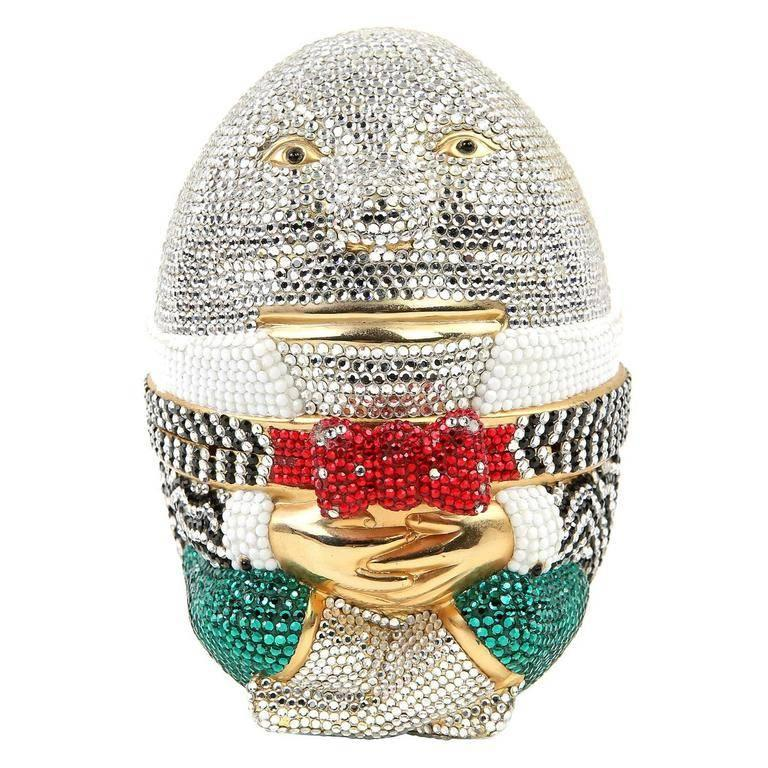 Judith Leiber Humpty Dumpty Minaudiere Evening Bag