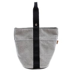 Hermes Toile Canvas Saxo MM Unisex Bag