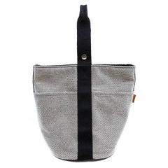 Hermes Toile Canvas Saxo MM Unisex Bag