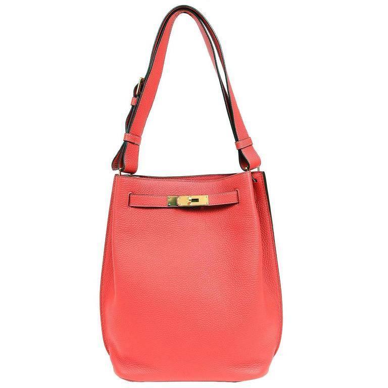 Hermes Geranium 26 cm So Kelly Shoulder Bag