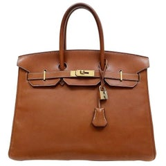 Hermes Barenia Leather 35 cm Birkin Bag, GHW
