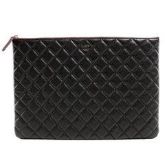 Chanel Black Caviar Leather Portfolio Case