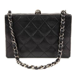 Chanel Black Quilted Leather Mini Box Bag