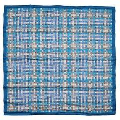 Hermes Blue Bolduc au Carre 90 cm Silk Scarf