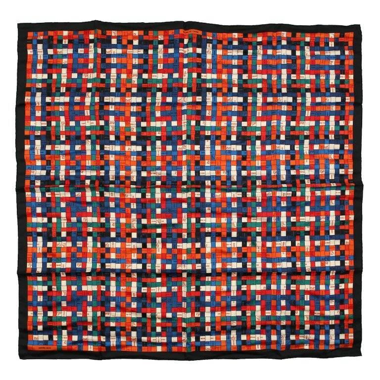 Hermes Red Bolduc au Carre 90 cm Silk Scarf