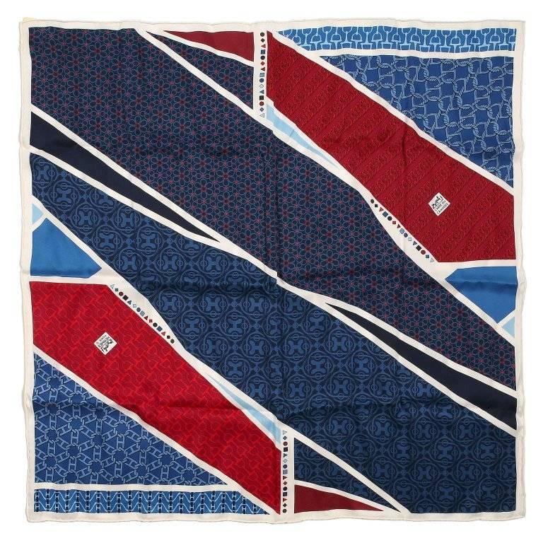 Hermes Carre en Cravates 60 sm Silk Scarf