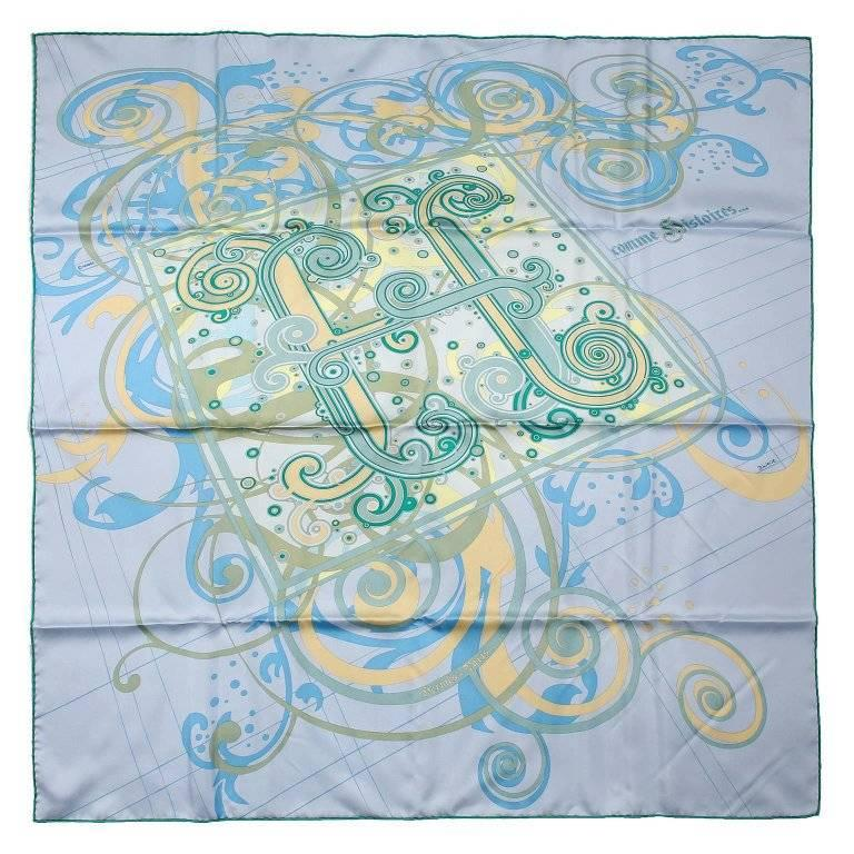 Hermes H Comme Histoires 90 cm Silk Scarf