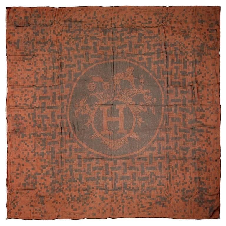 Hermes Mosaique au 24 Mousseline GM Shawl