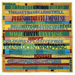 Hermes Mots de Soie 90 cm Silk Scarf