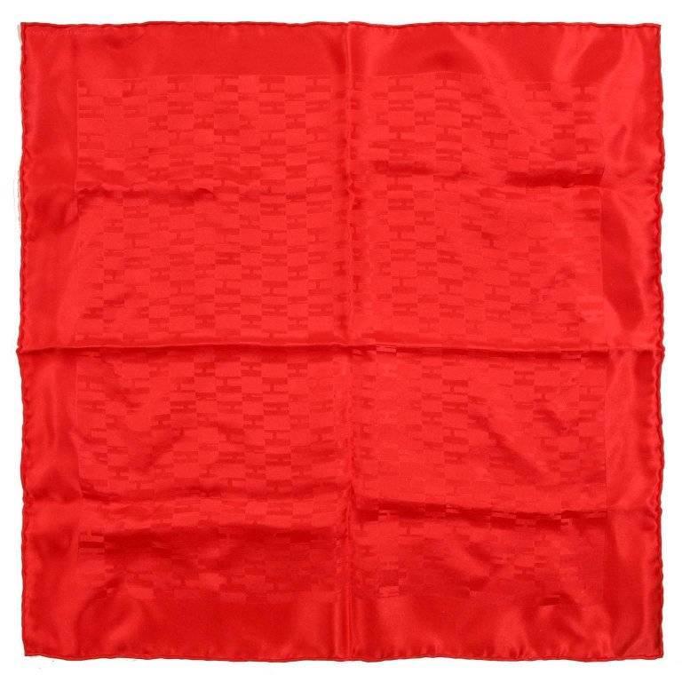 Hermes Red Op'H Pochette Silk Scarf
