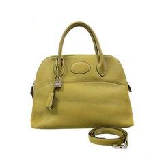 Hermes Vert Anis Clemence 31 cm Bolide Bag