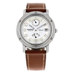 Hermès Stainless Steel Chronograph automatic Wristwatch