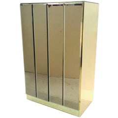 Bronze Glass and Brass Ello Cabinet