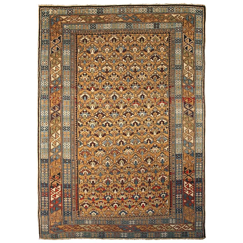 Armenian Antique Rugs: Fine Antique Square Armenian Shirvan At 1stdibs