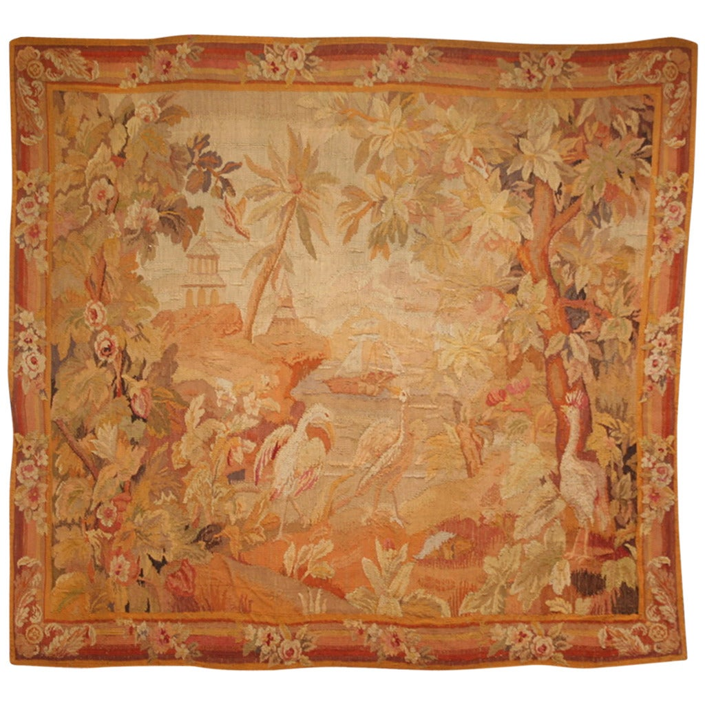 Antique Pictorial Belgium Tapestry At 1stdibs