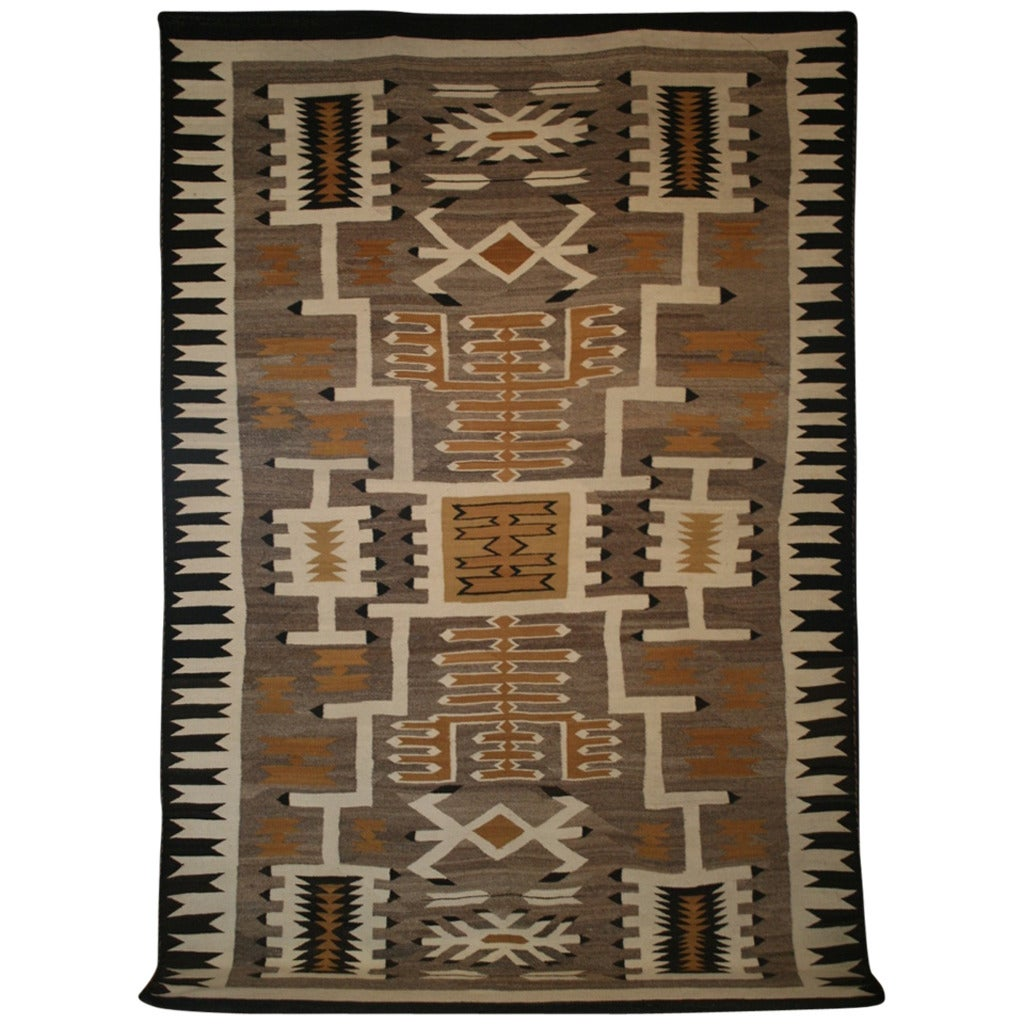 Fantastic Antique Navajo Storm Pattern Rug At 1stdibs