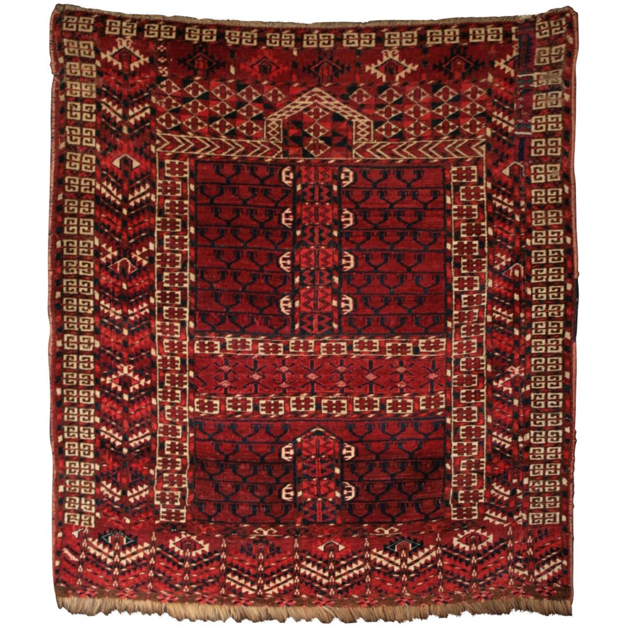 Antique Turkoman Rug: Antique Hatchli Engsi Yomut Turkoman At 1stdibs