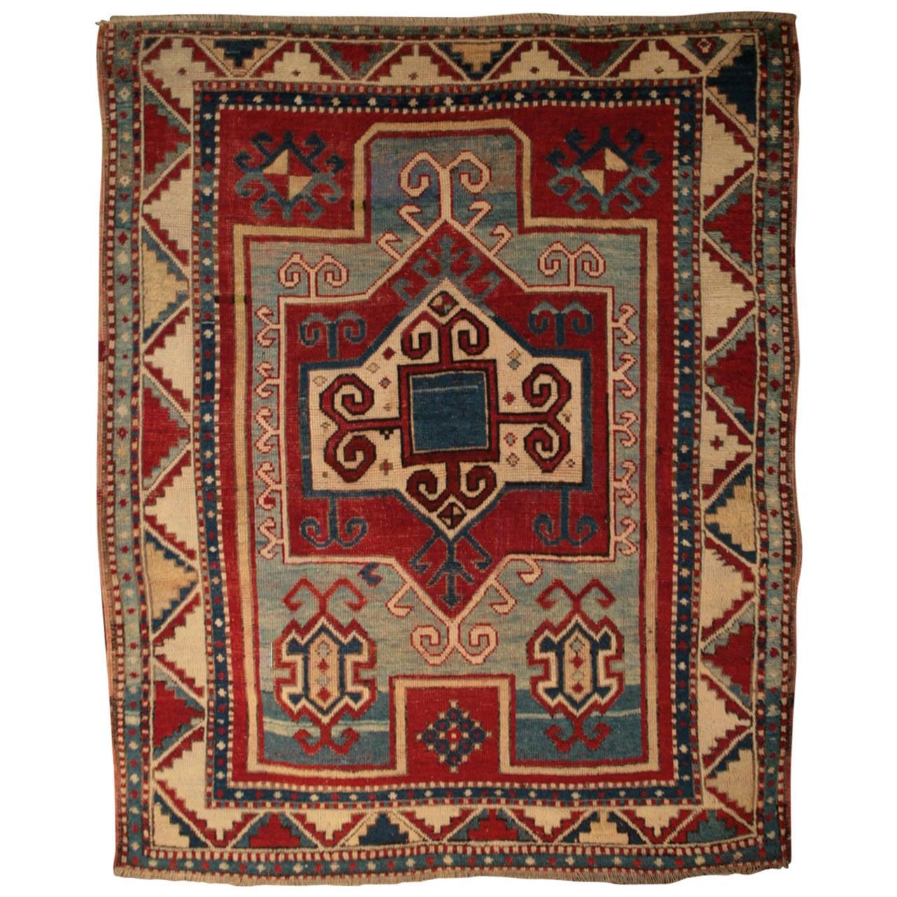 Armenian Antique Rugs: Rare Antique Armenian Fachralo Kazak Prayer At 1stdibs