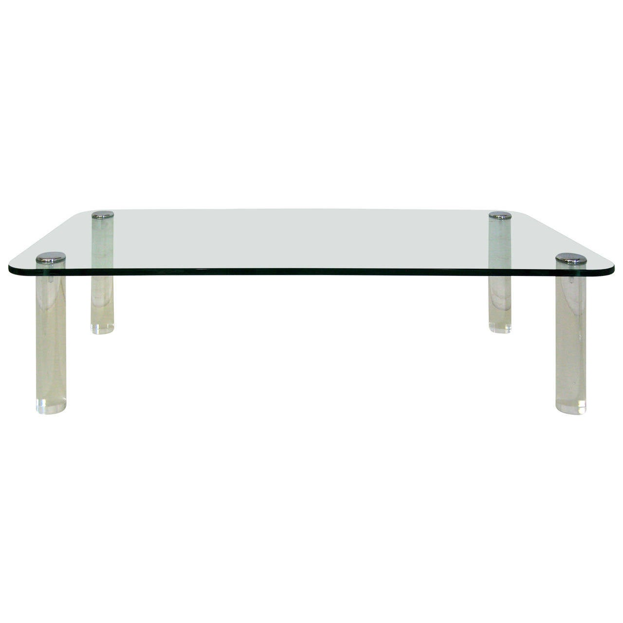 Pace Collection Glass And Lucite Coffee Table At 1stdibs