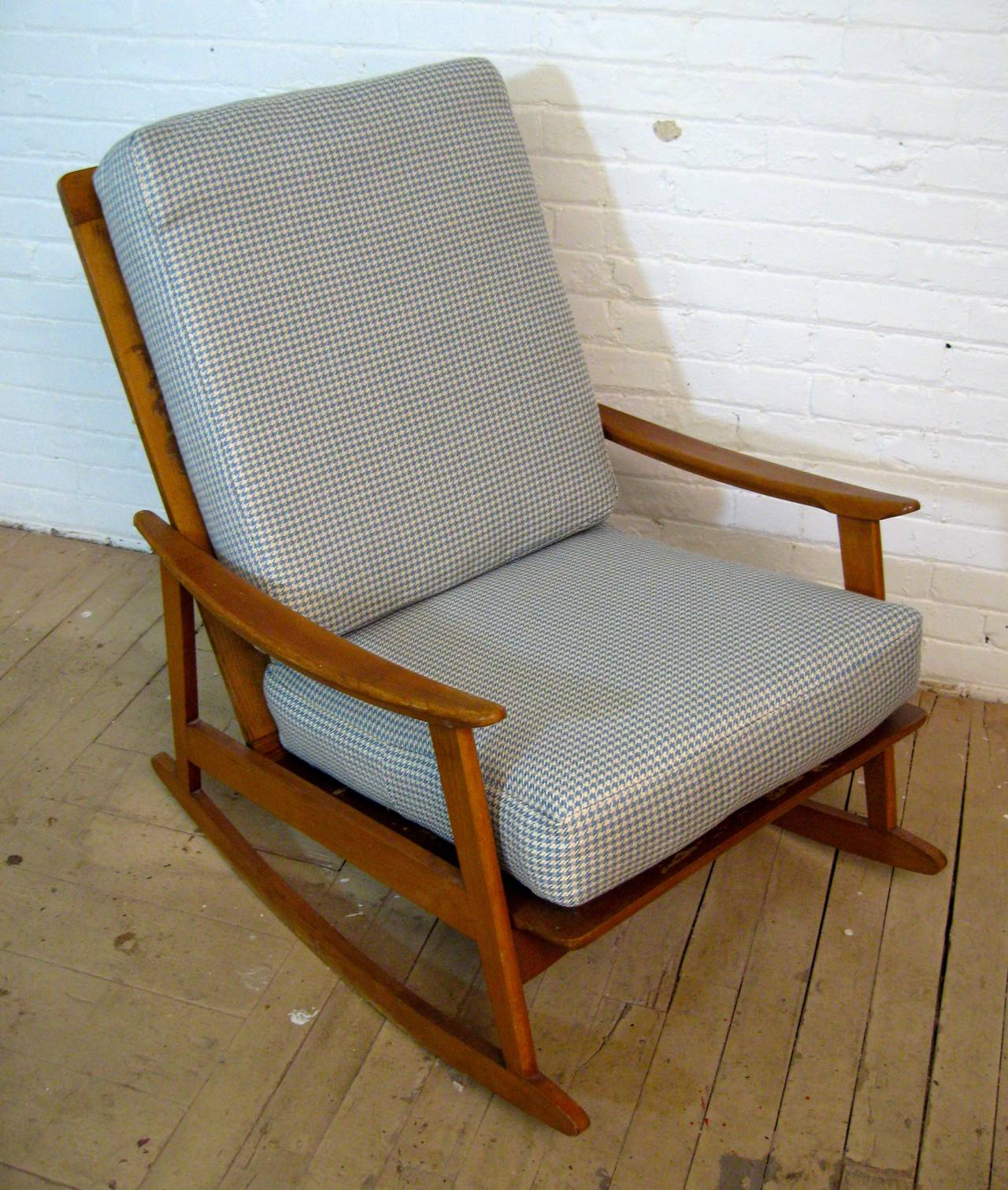 Mid century modern rocking chair for sale at stdibs