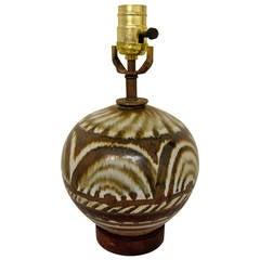 French Art Deco Inspired Luis Mendez Studio Pottery Lamp