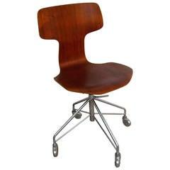 arne jacobsen for fritz hansen teak desk chair model 3103 arne jacobsen office chair