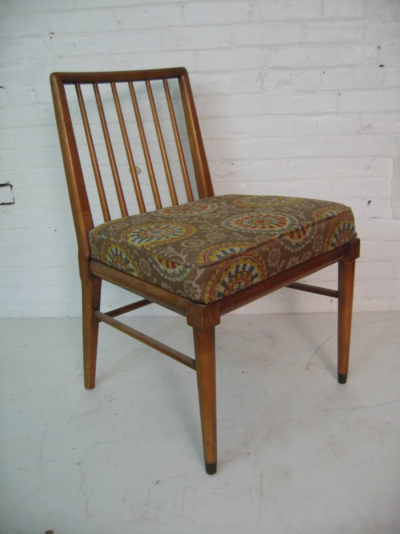 Mid Century Modern Gibbings Inspired Spindle Back Dining Chairs