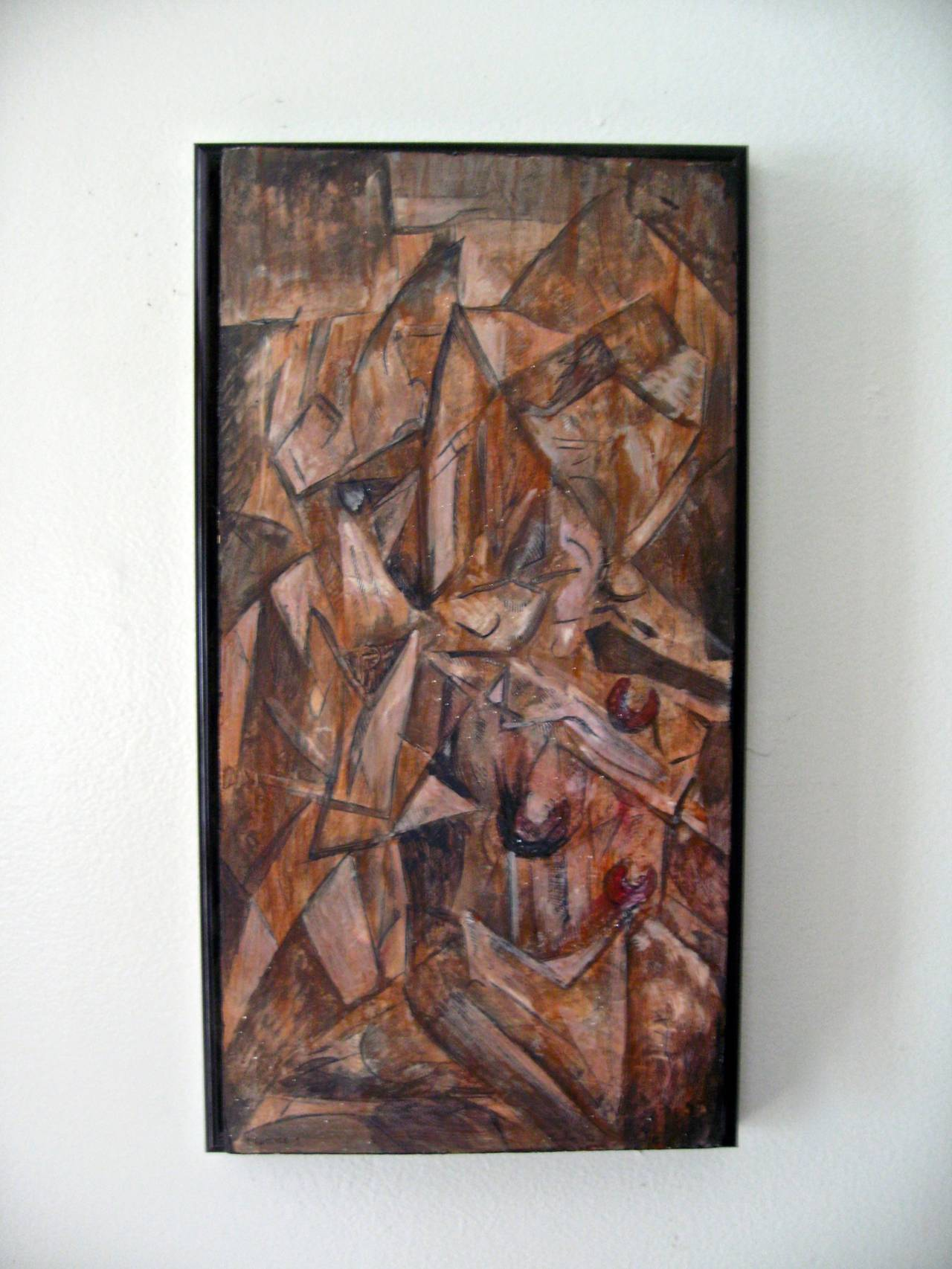 """""""Fracture 1"""" Cubist Painting In Excellent Condition For Sale In Garnerville, NY"""