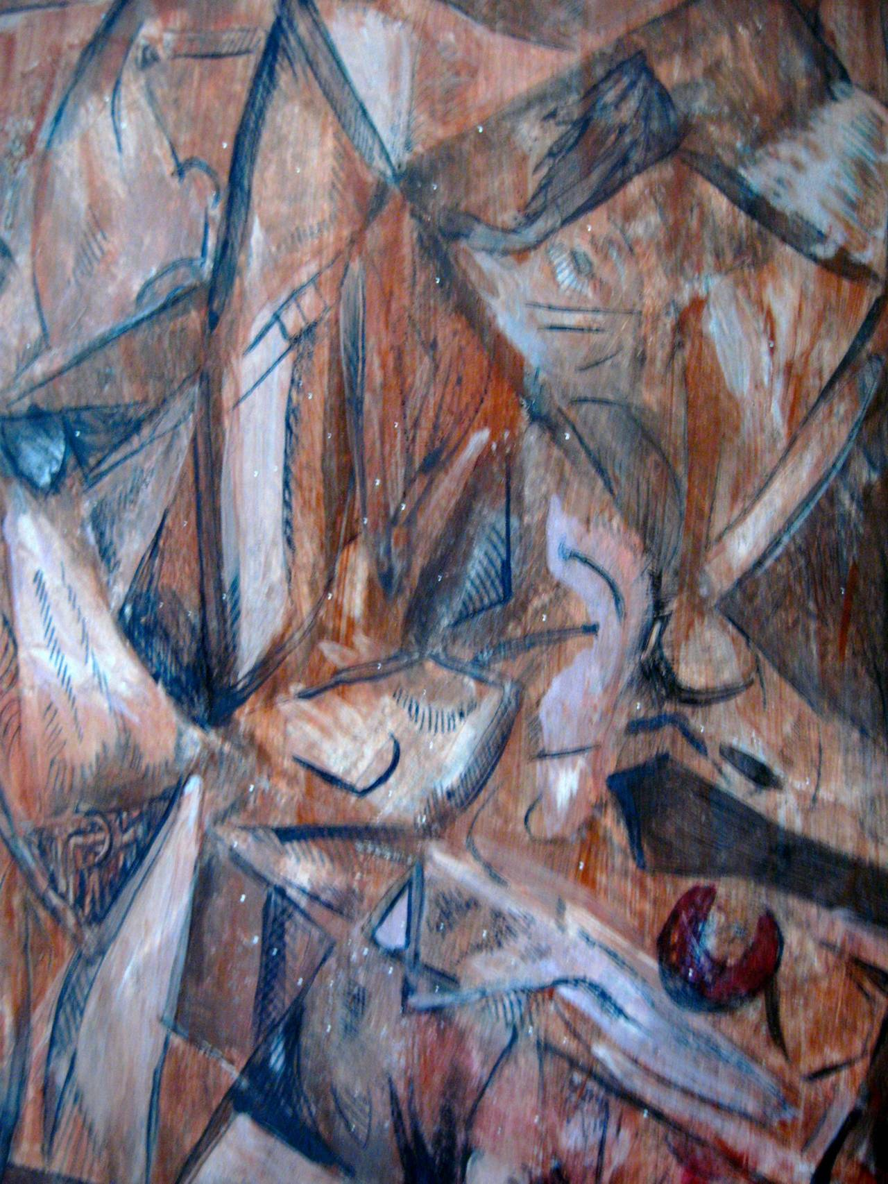 """Late 20th Century """"Fracture 1"""" Cubist Painting For Sale"""