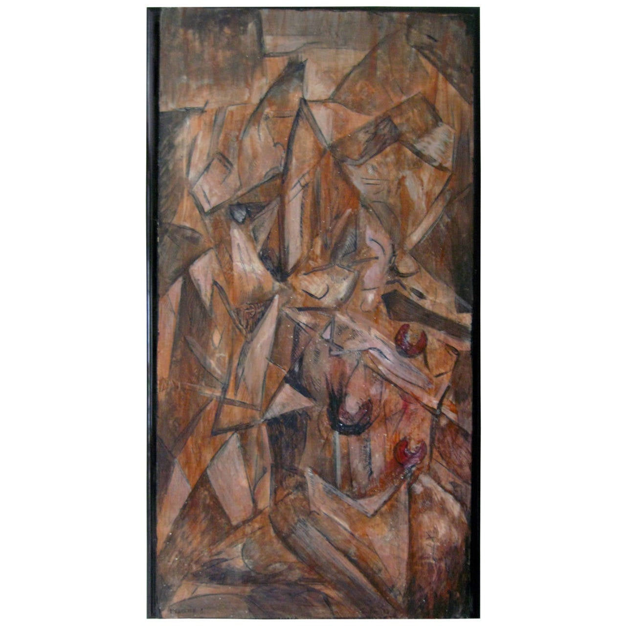 """Fracture 1"" Cubist Painting For Sale"