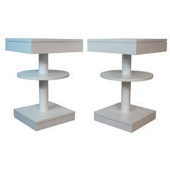 Moderne Lacquered End Tables in the Manner of Parzinger
