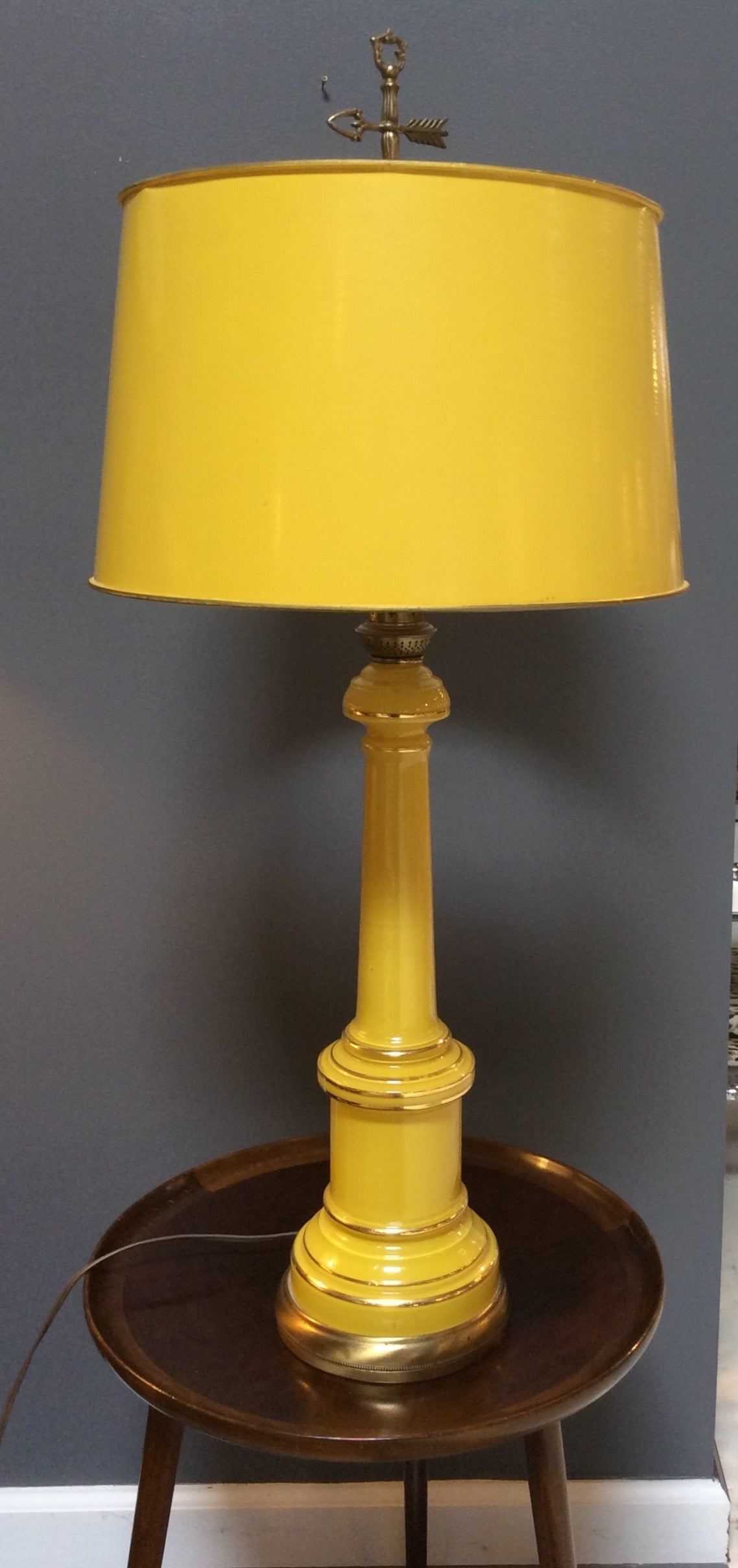 Mid century pair of yellow opaline table lamps by warren kessler empire mid century pair of yellow opaline table lamps by warren kessler nyc for sale aloadofball