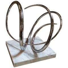 Abstract Modern Sculpture, Signed by listed Artist Joseph Domareki