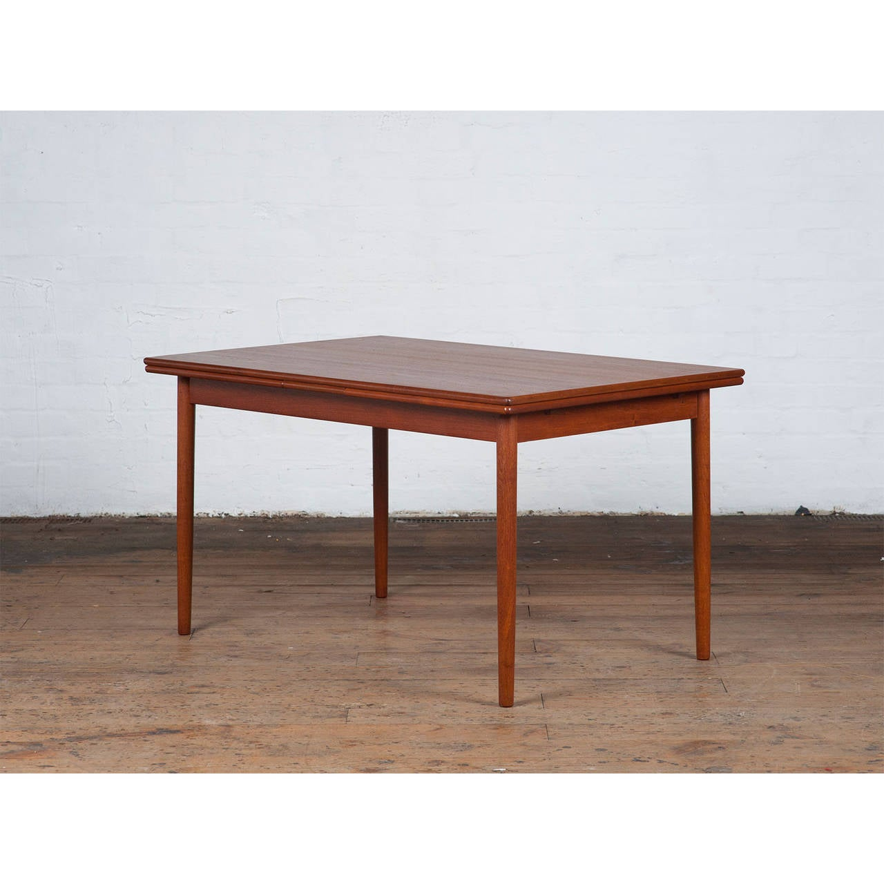 Mid Century Danish Teak Dining Table For Sale at 1stdibs : NewTeakDiningTablesideclosedl from www.1stdibs.com size 1280 x 1280 jpeg 114kB