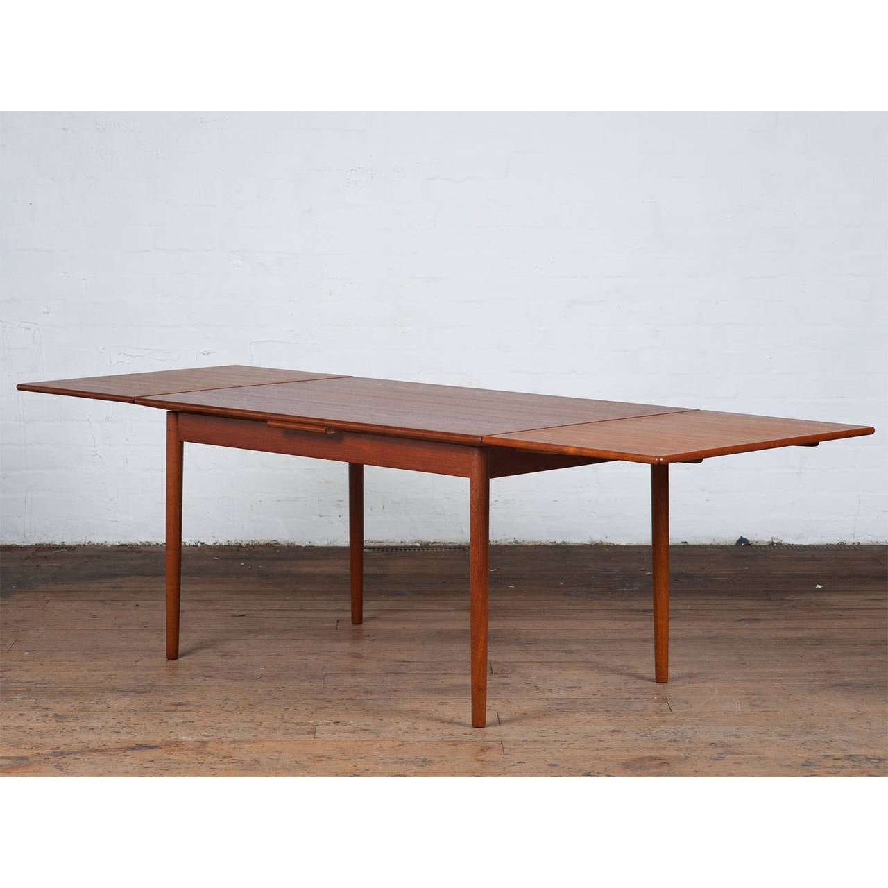 Mid Century Danish Teak Dining Table For Sale at 1stdibs : NewTeakDiningTablesideviewl from www.1stdibs.com size 1280 x 1280 jpeg 106kB