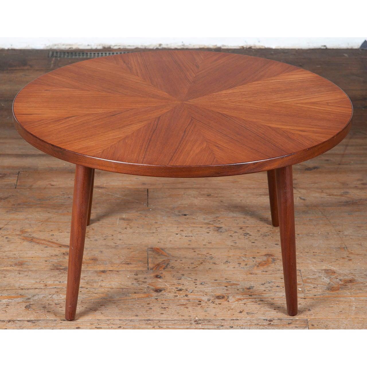 Danish Mid Century Teak Coffee Table 1 Small: Mid-Century Teak Starburst Coffee Table By H.W. Klein At