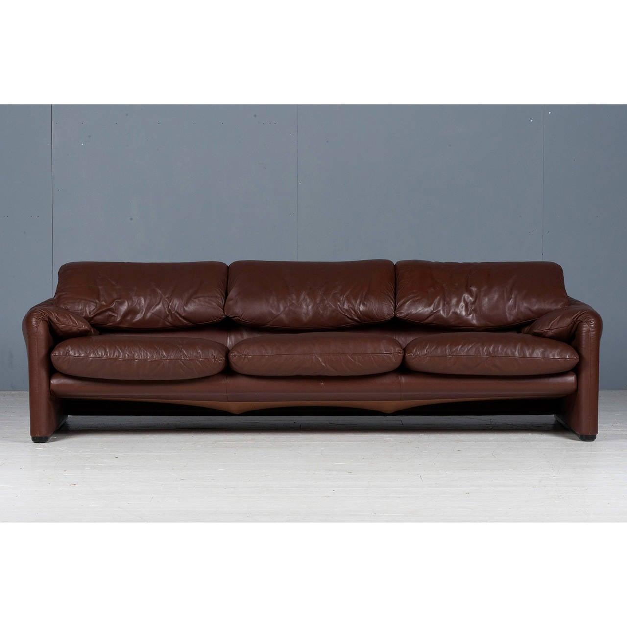 Maralunga Three Seat Sofa By Vico Magistretti For Cassina
