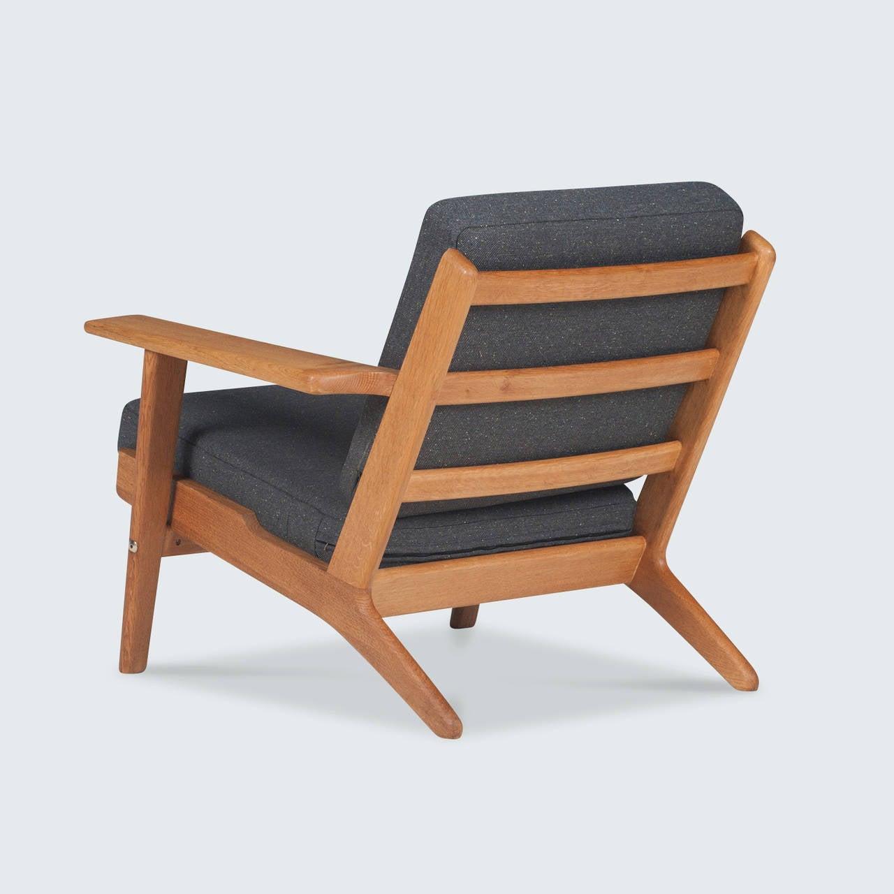 vintage danish ge 290 plank chair by hans j wegner 1959 at 1stdibs. Black Bedroom Furniture Sets. Home Design Ideas