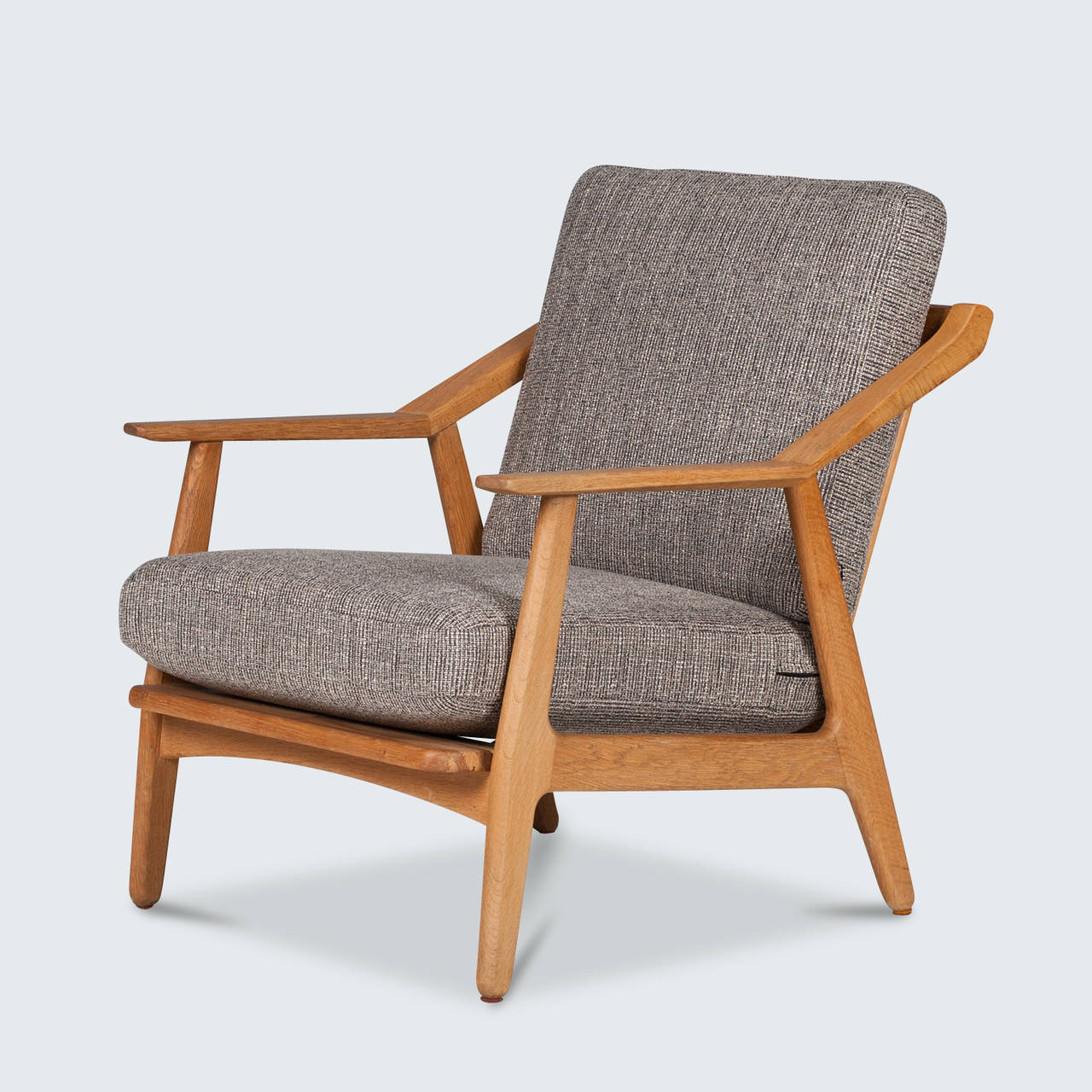 Vintage Danish H Brockmann Petersen Easy Chair In Oak