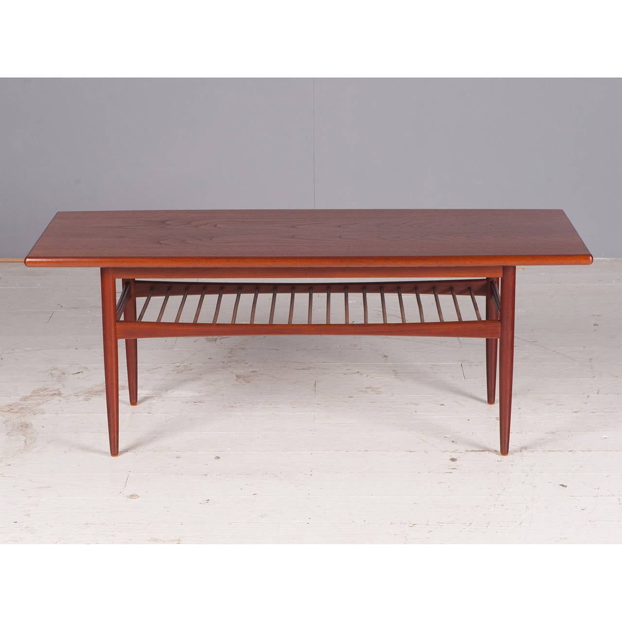 Danish Teak Coffee Table In The Style Of Grete Jalk 1960s